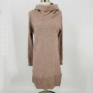 Solutions Womens Cowl Neck Ribbed Sweater Dress In